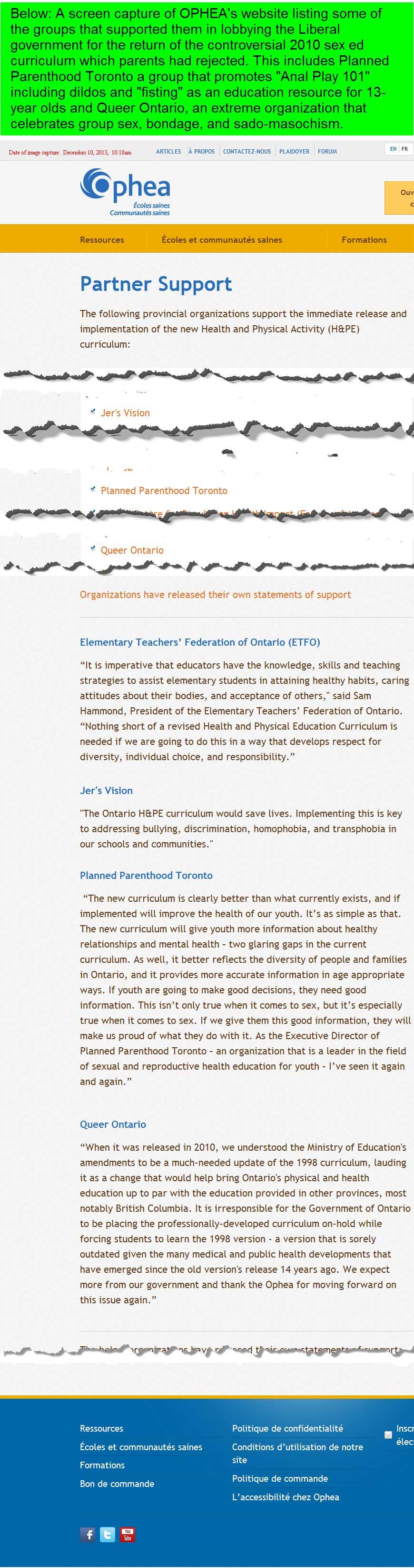 Sex education in the curriculum