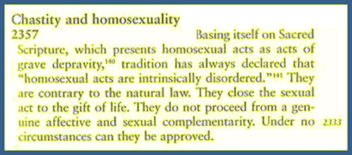 Vatican opinion on homosexuality