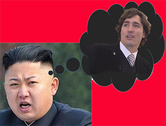 Kim Jon-un green with envy of Justin