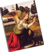 Annunciation by Leonardo da Vinci (one package)