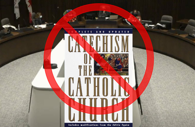 Trustees shout down the Catechism of the Catholic Church